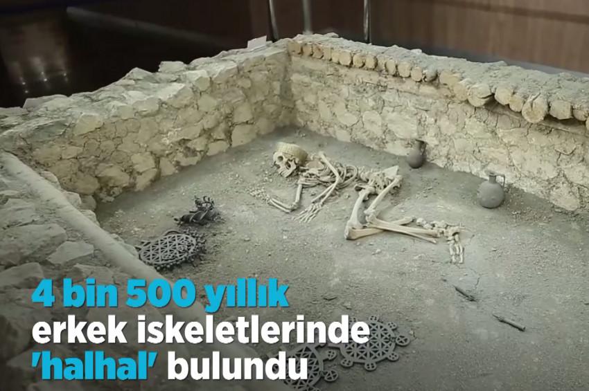 4 bin 500 yıllık hallal takmış erkek iskeleti bulundu