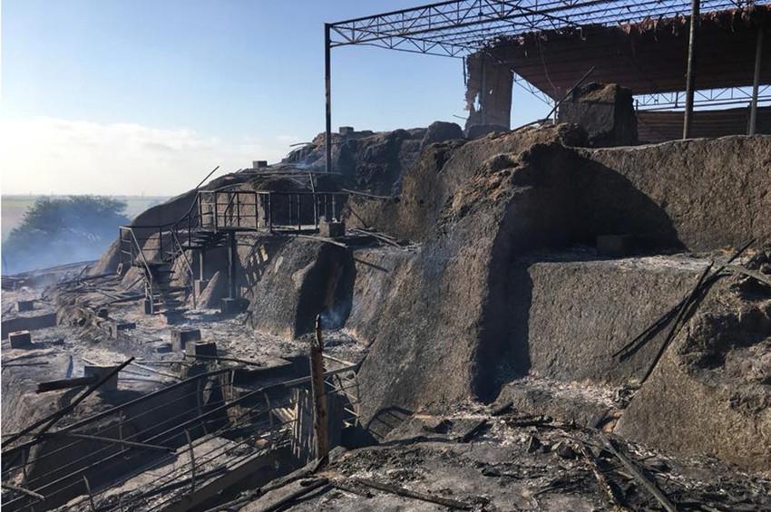Peruda arkeolojik sit alanında yangın çıktı