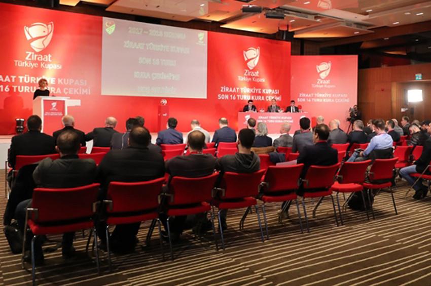 Futbol: Ziraat Türkiye Kupası eşleşmeleri belli oldu