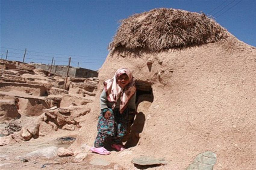 İranda bir metrelik insanların yaşadığı köy