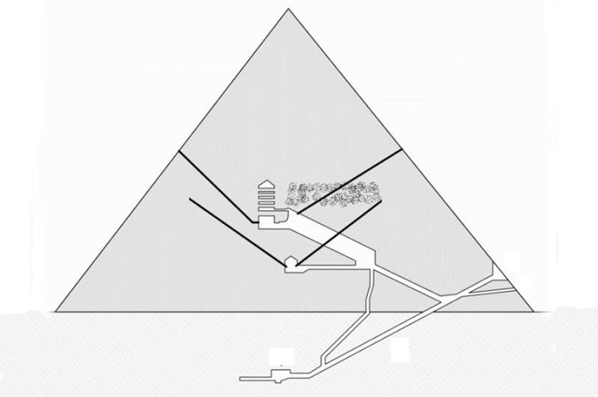 Piramitteki gizli odada demir taht olabilir