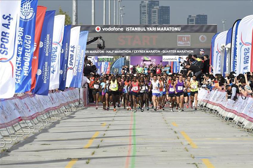 Vodafone İstanbul Yarı Maratonu heyecanı başladı