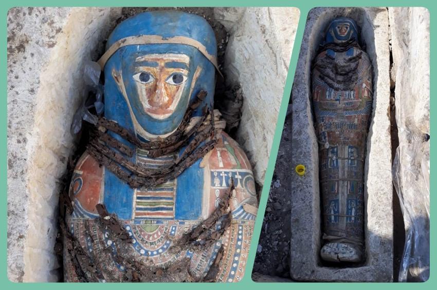 Mısırda 3 bin yıllık 8 yeni mumya bulundu