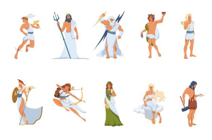 Yunan mitolojisinde tanrılar
