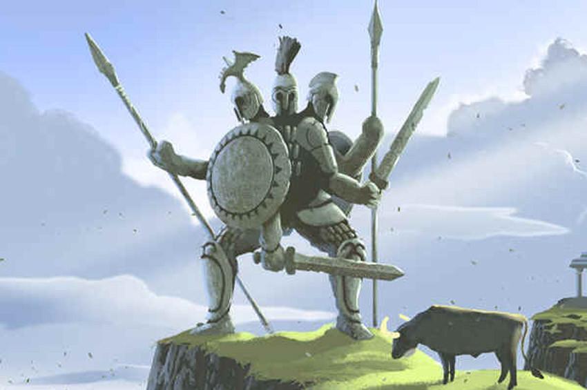 Yunan Mitolojisinin üç kafalı devi: Geryon