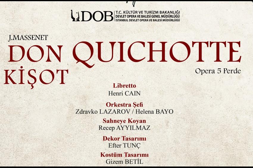 İstanbul Devlet Opera ve Balesi Don Kişota hazırlanıyor