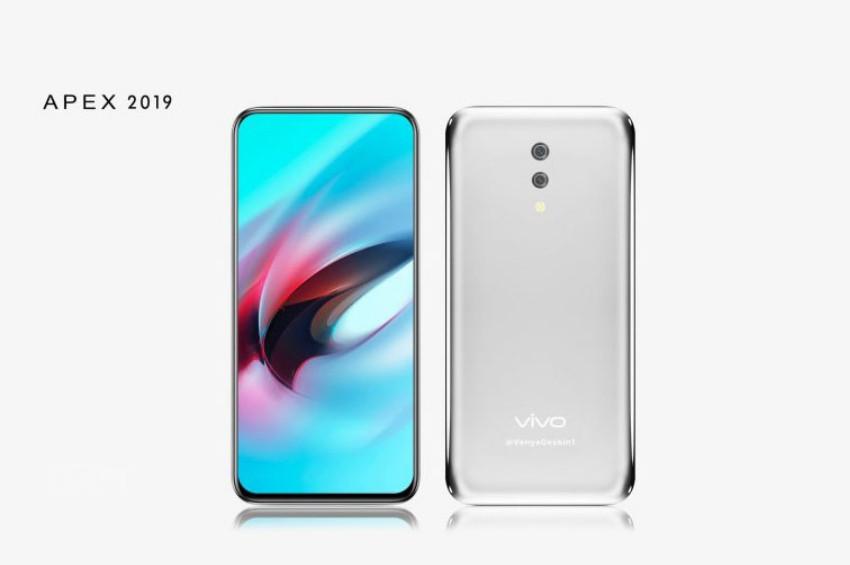 Deliksiz Tuşsuz Telefon Vivo Apex 2019 Tanıtıldı