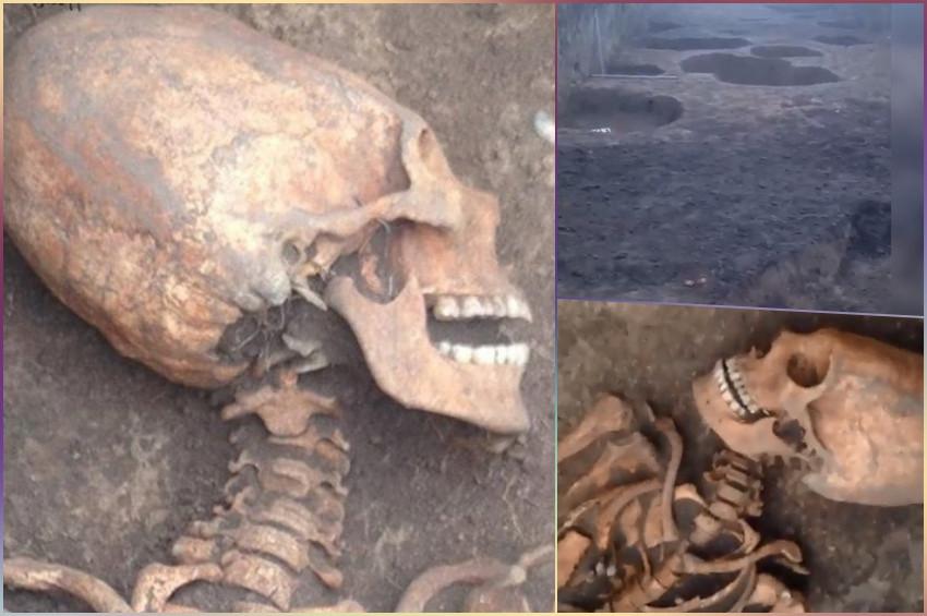 Uzun kafalı ve uzun boyunlu kadın iskeleti bulundu