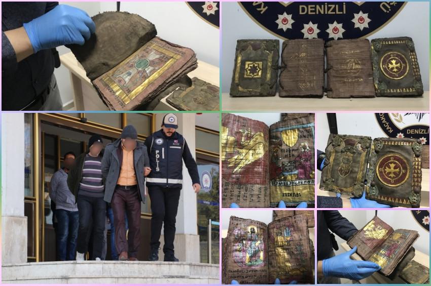 Denizlide paha biçilemeyen tarihi kitaplar yakalandı