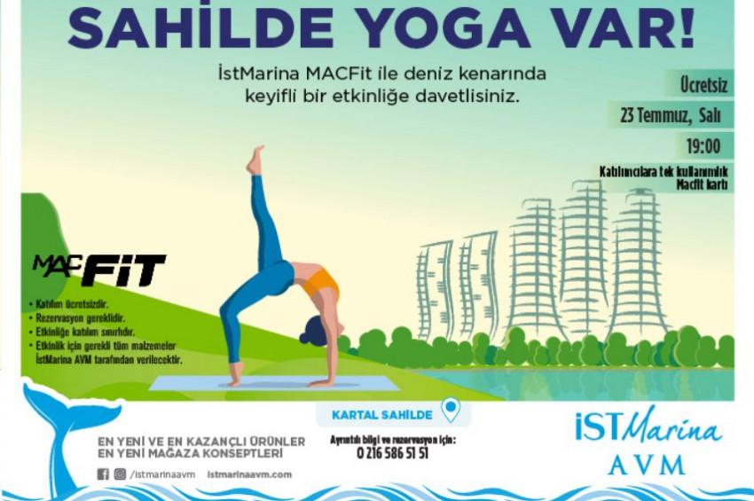 İstMarina sahilinde ücretsiz yoga eğitimi