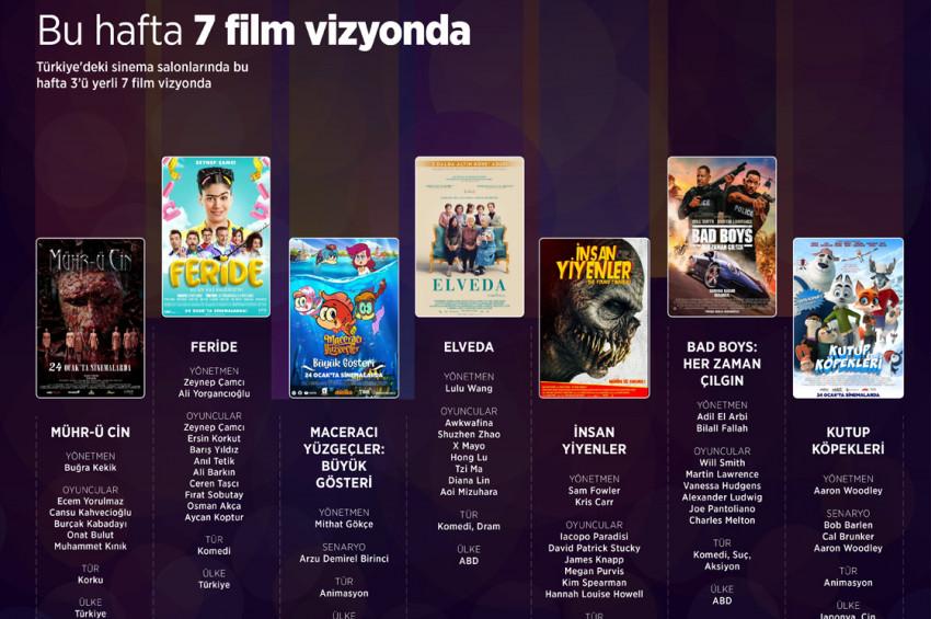 Sinemalarda bu hafta 3ü yerli 7 film var
