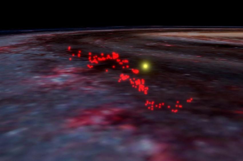 Samanyolunda dalga şekilli dev yapı keşfedildi