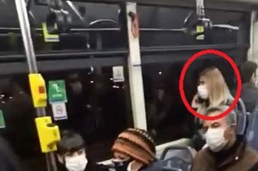 Belediye otobüsünde koronavirüs paniği yaşandı