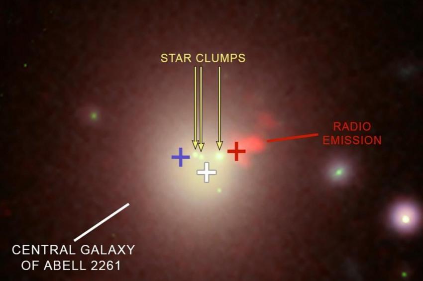 Abell 2261 galaksinin kara deliği aranıyor