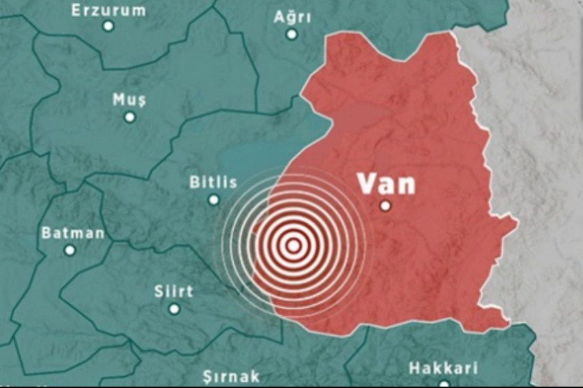 Vanda 4 büyüklüğünde deprem oldu