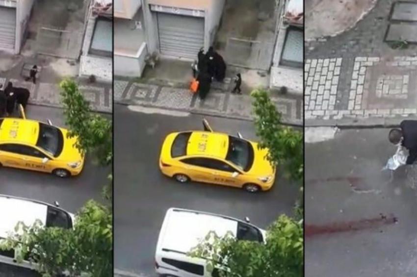 Taksiden atılan kadın sokakta doğum yaptı