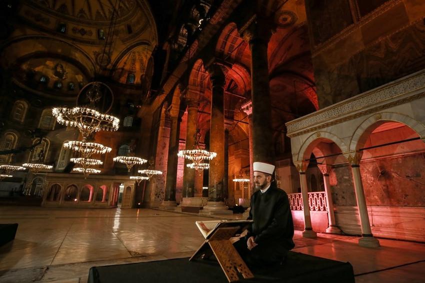Ayasofya'da Kuran okunması Yunanistanı rahatsız etti