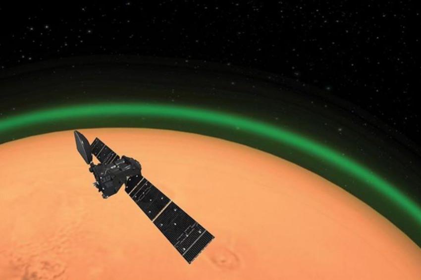 Marsın atmosferinde yeşil ışık keşfedildi
