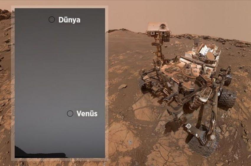 Marstan baktı, Dünya ve Venüsü aynı karede çekti