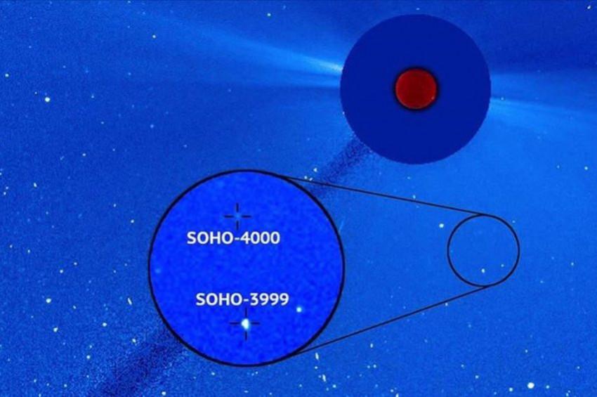 SOHO Teleskobuyla keşfedilen  4 bininci kuyruklu yıldız