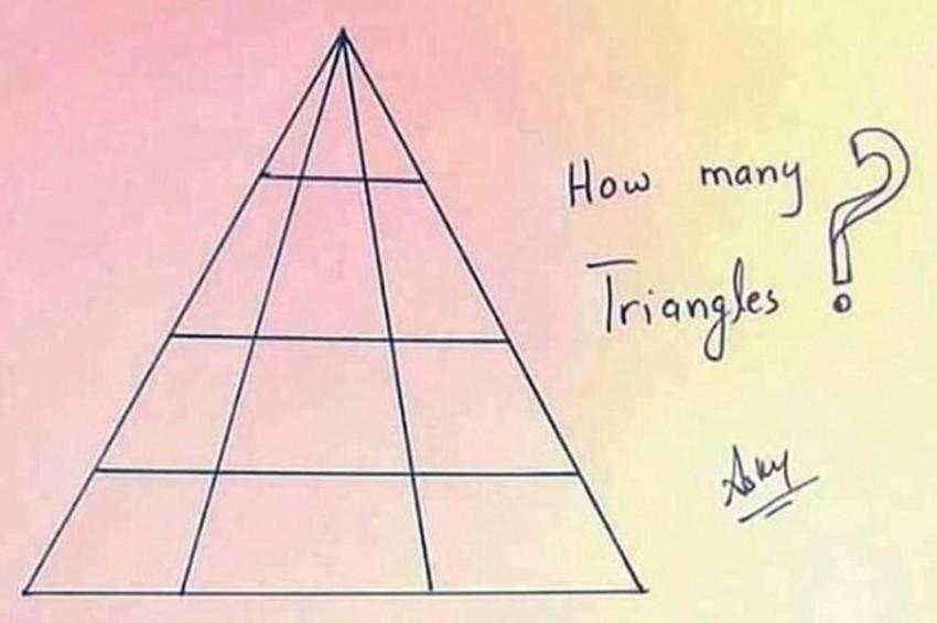 İşte bu fotoğraftaki 24 üçgen