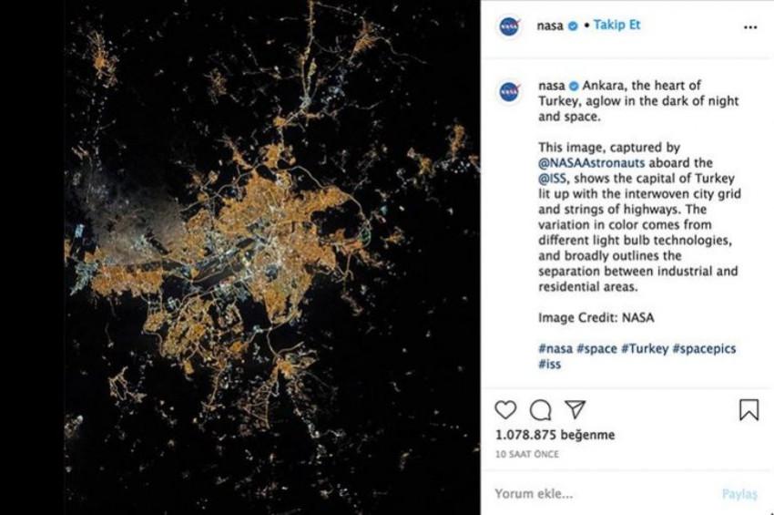 NASAnın Türkiyenin kalbi paylaşımı