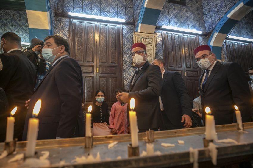 Tunusta  Yahudilerin hac merasimi maskeli gerçekleşti