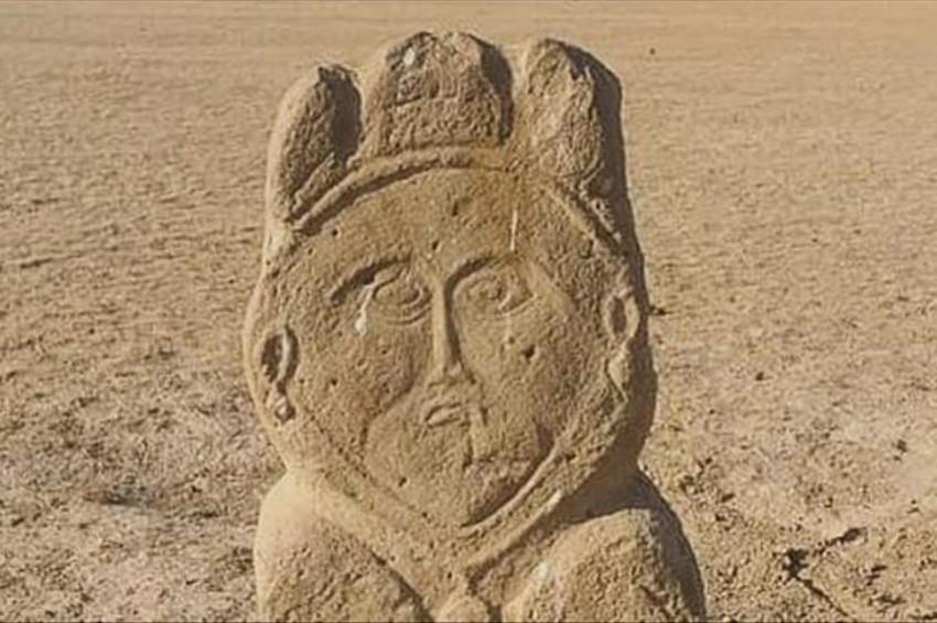 Sırdarya kenarında 1300 yıllık Türk kadın heykeli bulundu