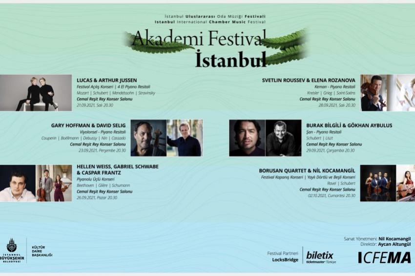 İstanbul Uluslararası Oda Müziği Festivali 21 Eylülde başlıyor
