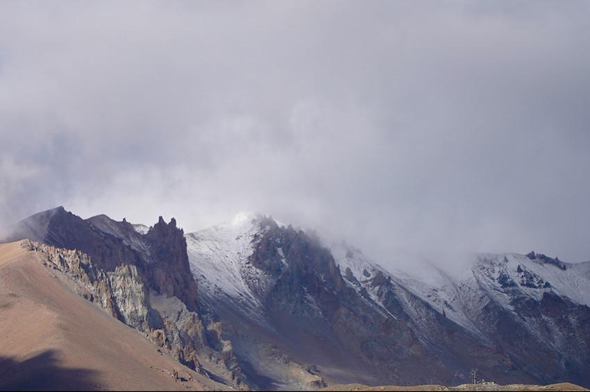 Erciyes Dağına mevsimin ilk karı yağdı