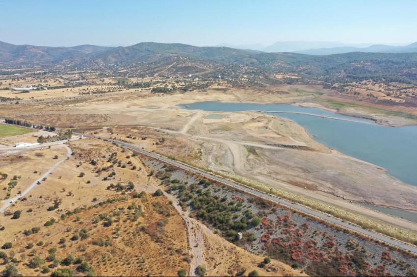 Mumcular Barajında su seviyesi alarm veriyor