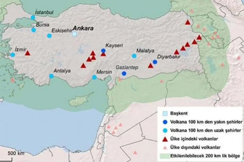 Türkiyede patlama ihtimali olan yanardağ var mı?