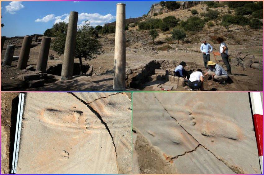 Çanakkalede 1300 yıllık bebek ayak izleri bulundu